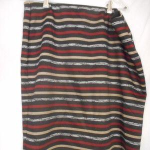 Roz & Ali Size 2x elastic waist skirt